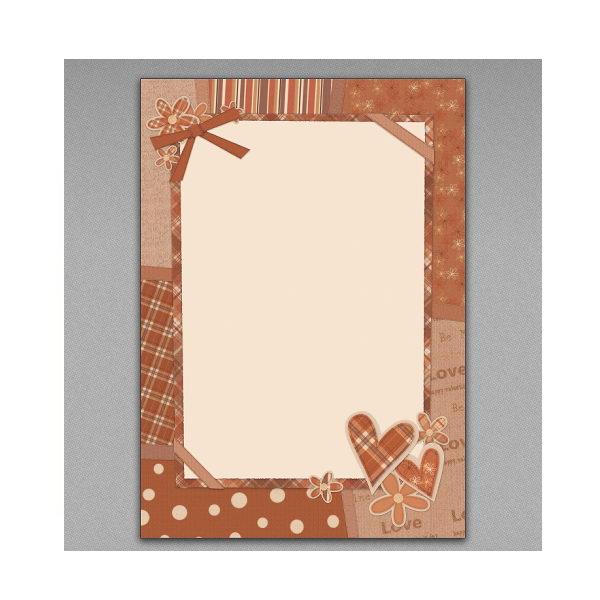 الگوی پاکت و برگه نامه برای کارت تبریک