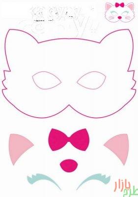 الگوی برش ماسک حیوانات (سری 5 تایی) 2
