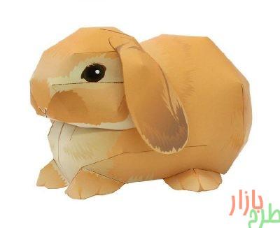 الگوی برش مجسمه کاغذی خرگوش هلند لوپ