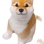 الگوی برش مجسمه کاغذی سگ شیبا اینو