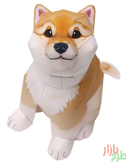 مجسمه کاغذی سگ شیبا اینو