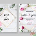 الگوی لایه باز کارت دعوت عروسی