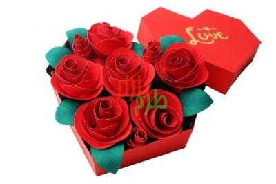 الگوی ساخت جعبه گل قلبی سپندارمزگان ۹۸ با آموزش