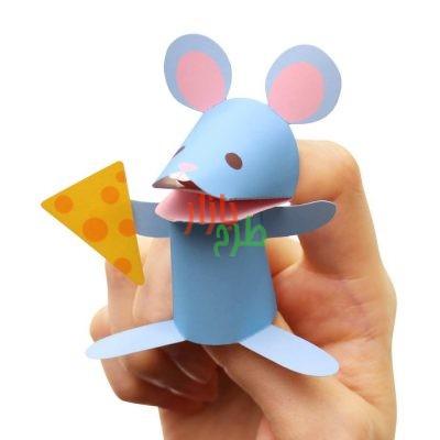 الگوی برش و آموزش ساخت عروسک انگشتی موش