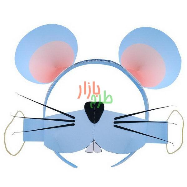 الگوی برش و آموزش ساخت تل سر و ماسک موش 1