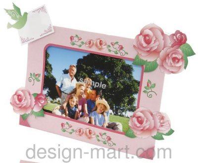 الگو و راهنمای ساخت قاب عکس بسیار زیبای کاغذی گلدار