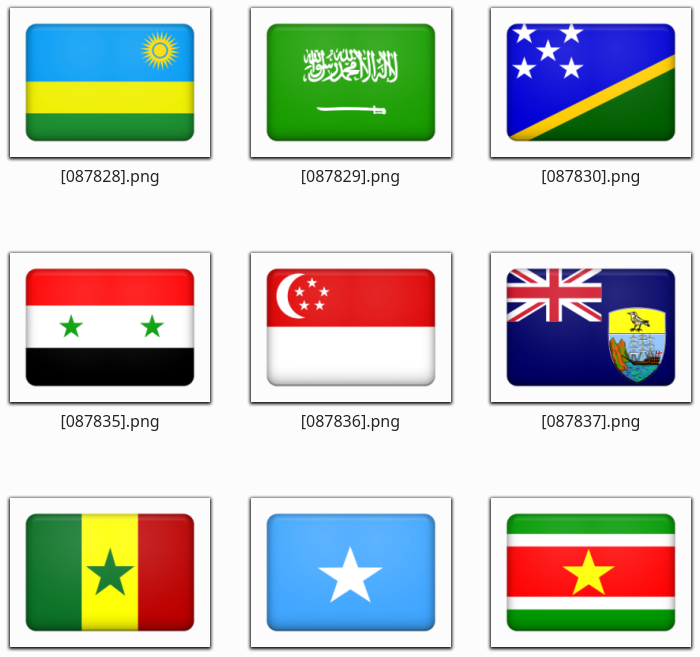 ۲۵۹ آیکون پرچم کشورها با فرمت PNG
